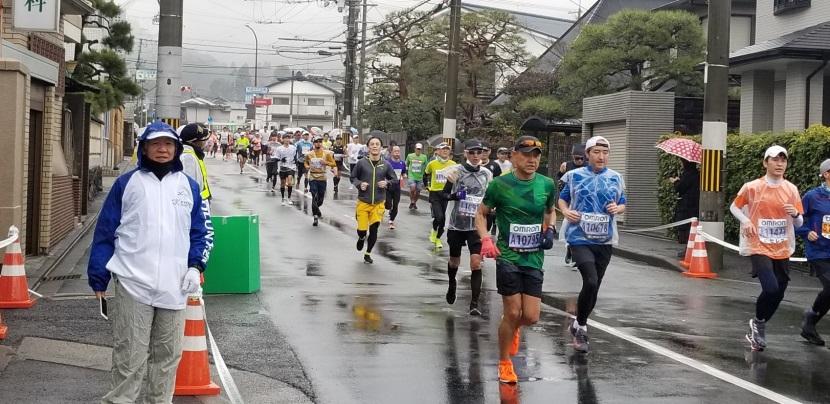 京都 マラソン 雨天
